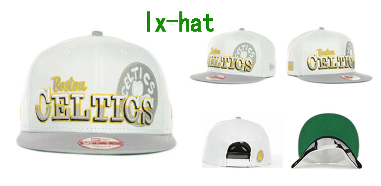 Boston Celtics White Snapback Hat GF